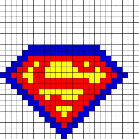 hama bead template printable superman fusebead perler bead pattern bead sprites
