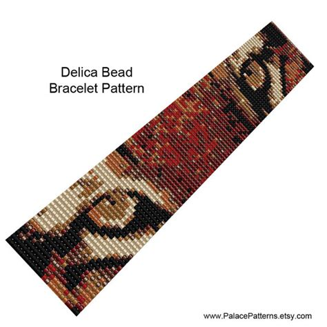 bead weaving loom patterns tiger bead loom weaving bracelet pattern or by