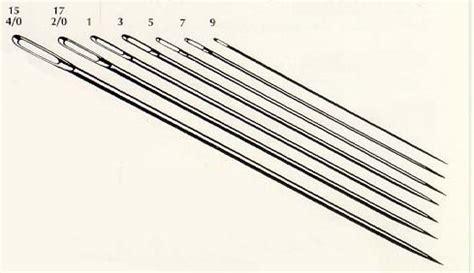 beading needle size chart darner needles