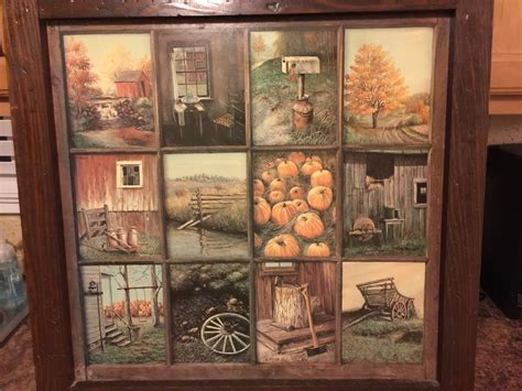 home interiors picture vintage homco home interior interiors window pane picture fall b mitchell ebay