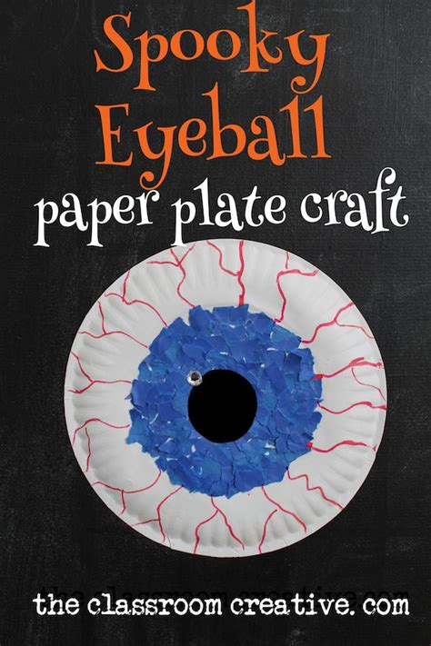 spooky crafts for paper plate spooky eyeball craft