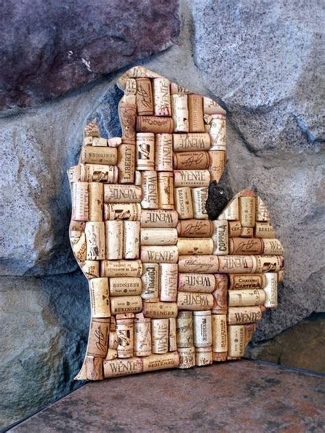 michigan crafts for wine decor wine cork crafts and cork crafts on