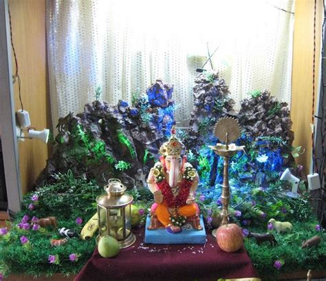 decorations made at home ganesh chaturthi decoration ideas ganesh pooja decor