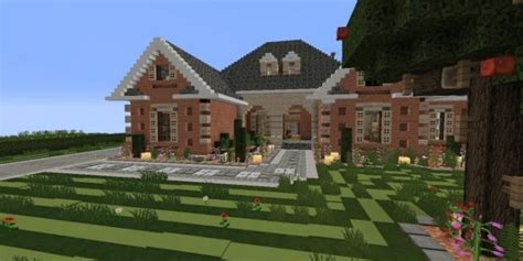 minecraft home design large suburban house minecraft house design