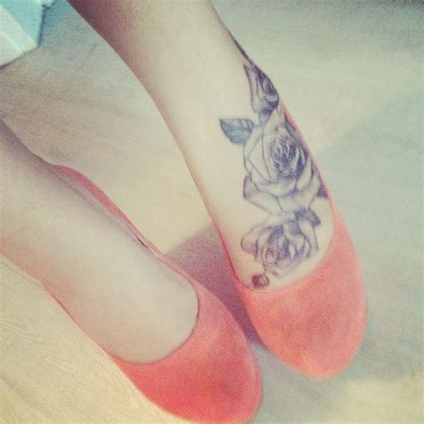 rose foot tattoo tattoos pinterest