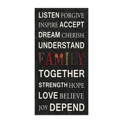 20 inspirations family canvas wall buy inspirational wall decor from bed bath beyond