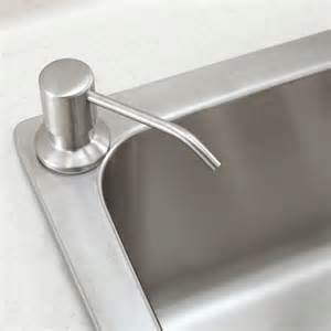 kitchen sink with soap dispenser brushed nickel stainless steel kitchen sink soap dispenser