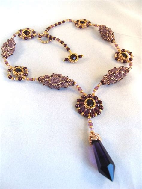 beaded jewelry tutorials pattern tutorial beaded necklace