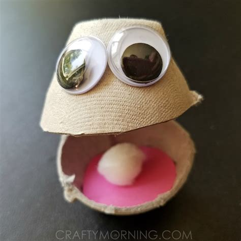 oyster paper crafts egg oyster craft crafty morning