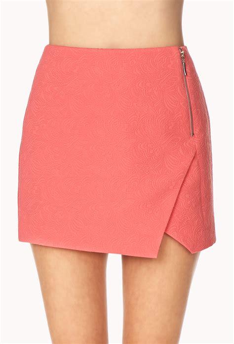 origami mini skirt forever 21 fancy origami skirt in pink gum lyst