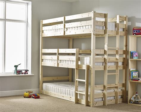 strictly bunk beds pandora 3ft single 3 tier heavy duty solid pine high