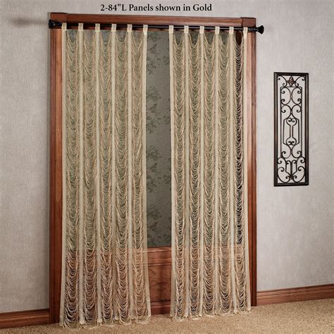 string curtains sorrento ii gold string lace curtain panels