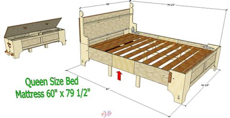 bed box dimensions plan previews 3d woodworking plans