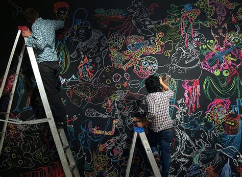 chalkboard paint yes or no communal chalk artwork wall cleaned once a week to once a
