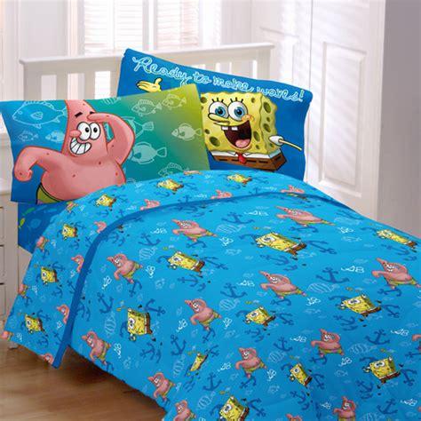 spongebob bed sets nickelodeon spongebob fish swirl microfiber bedding sheet