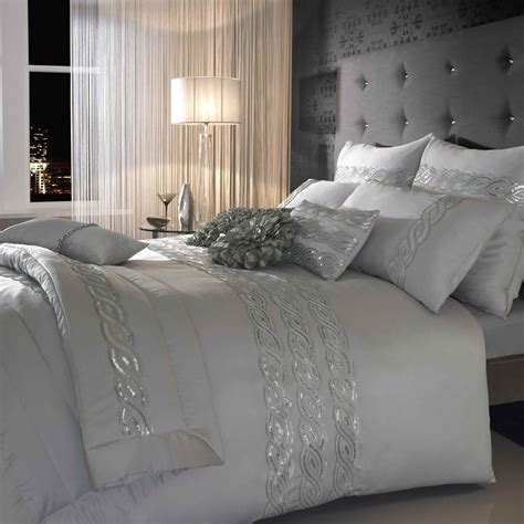 silver bedding set sequins wave silver bedding set next day delivery