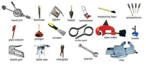 list of woodworking careers tools for a workshop and outside