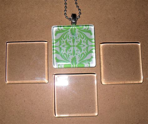 clear glass tiles for jewelry 10 ultra white clear small square glass tiles 4 jewelry