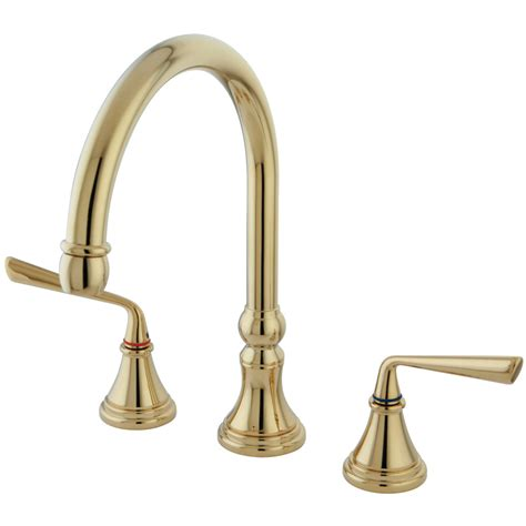 brass kitchen faucet kingston brass ks2792zlls silver widespread kitchen faucet polished brass kingston brass
