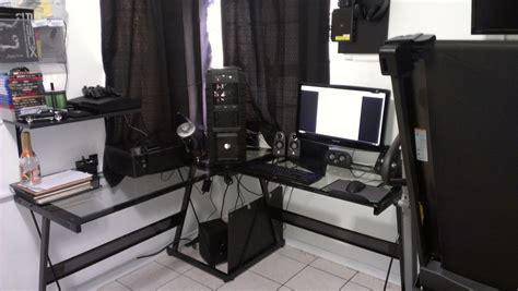 l shaped desk gaming setup cool gaming desks 5475