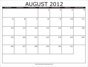 2012 free printable calendars free printable calendars