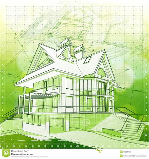 green architecture house plans house plans green background stock photography image