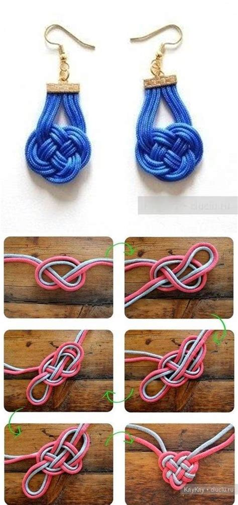 diy photo craft projects how to knit beautiful decorative knotting earrings