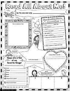 instant personal poster sets read all about me 30 big write and read learning posters ready for to personalize and display with pride 1000 images about preschool of the week ideas on