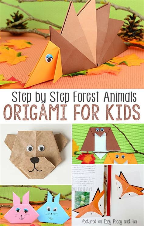 origami for 7 year olds forest animals origami for easy peasy and