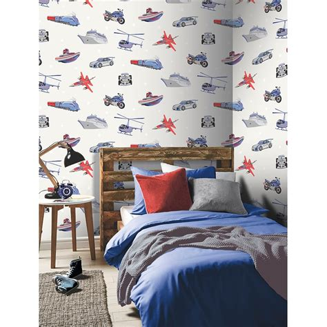 Childrens Car Wallpaper Uk by Arthouse Zoom Vehicle Pattern Childrens Wallpaper F1 Car