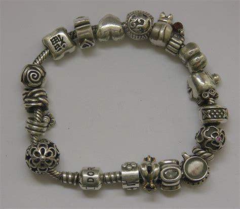 pandora bracelet stopper pandora bracelet with 18 charms and 3 stoppers catawiki