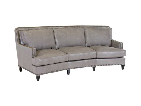 curved leather sofas classic leather palermo curved sofa set clpalercr