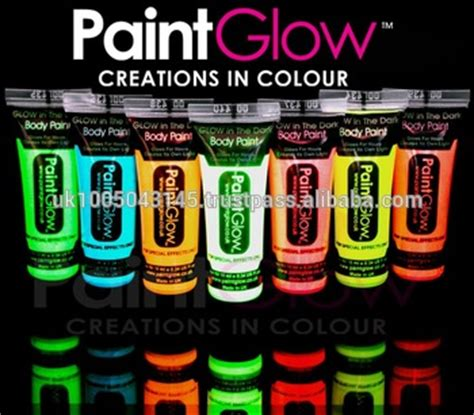 glow in the paint colours glow in the paints 6 neon colours and 1
