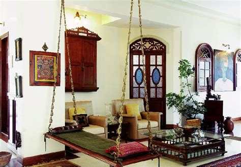 ethnic home decor shopping india oonjal wooden swings in south indian homes