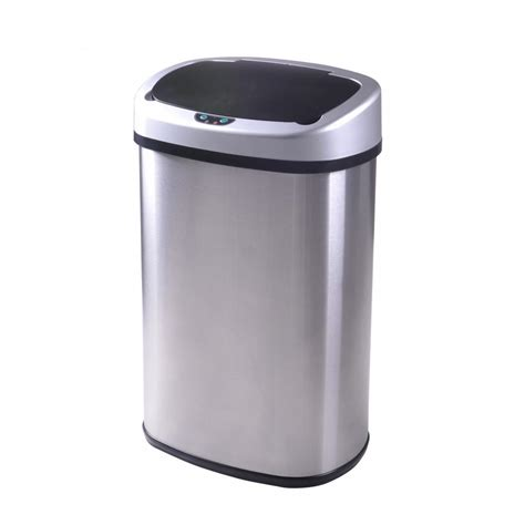 kitchen trash can new 13 gallon touch free sensor automatic stainless steel