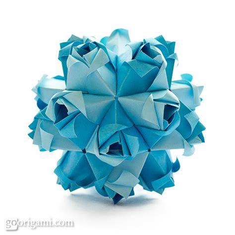 origami kusudama roses kusudama diagram