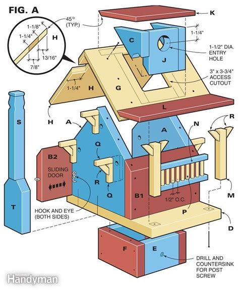 free woodworking projects plans and how to guides build a backyard birdhouse the family handyman