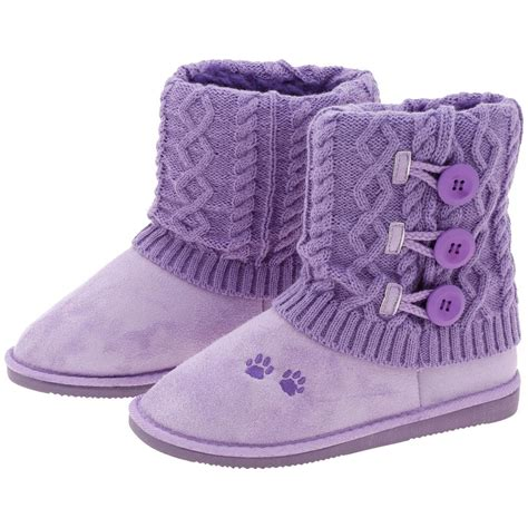 knit boots purple paw mid rise knit boots the animal rescue site