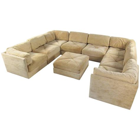 large modern sectional sofas large selig sectional sofa with ottoman mid century