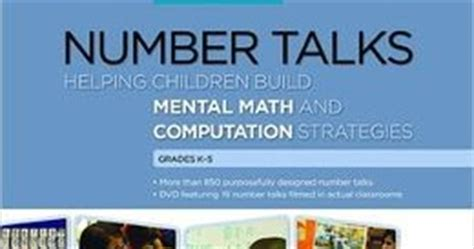 number talks whole number computation grades k 5 the go to number talks