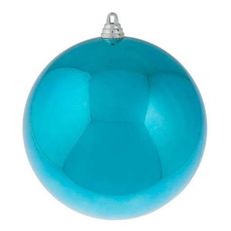 turquoise baubles light turquoise baubles shiny shatterproof single 250mm