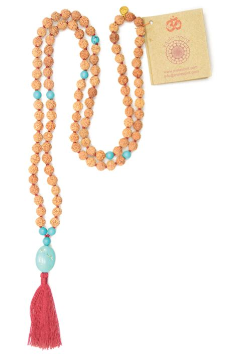 how many in a mala necklace adventure mala necklace met rudraksha mala and turqouise