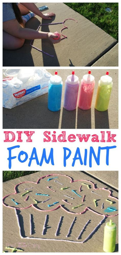 sidewalk chalk paint diy diy sidewalk foam paint summer boys and zipper bags