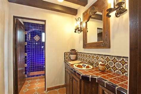 mexican tile bathroom designs mexican bathroom ideas colorful mexican tile surround