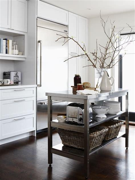 stainless steel kitchen island 12 freestanding kitchen islands the inspired room