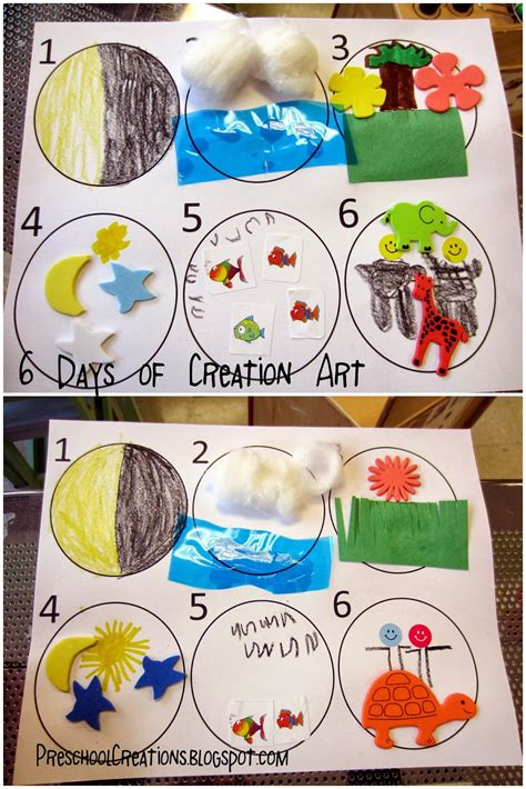 creation crafts for preschool creations 6 days of creation activities