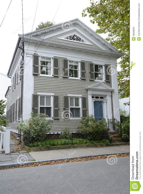 federal style house federal style house in stonington connecticut stock image image of autumn porch 36509251