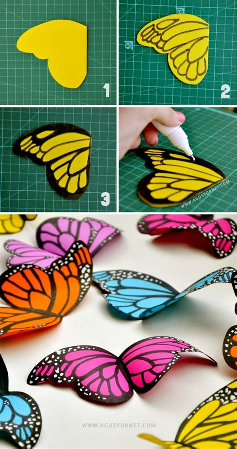 paper butterflies craft diy paper butterflies