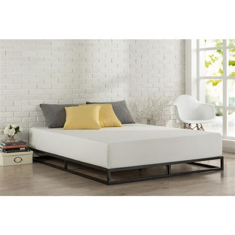 modern king size bed frame zinus 18 in high profile smartbase deluxe size bed