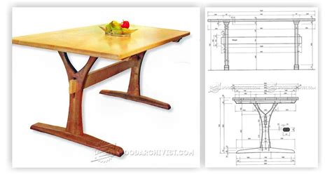 dining table plans woodworking free dining table plans woodarchivist